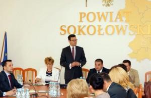 Na zdjęciu: Marcin Pasik Wójt Gminy Sokołów Podlaski, Fot. Krzysztof Ptak