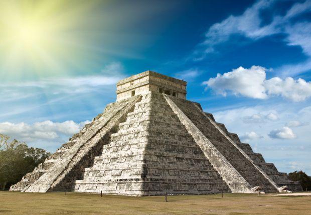 Piramida w Chichén Itzá w Meksyku